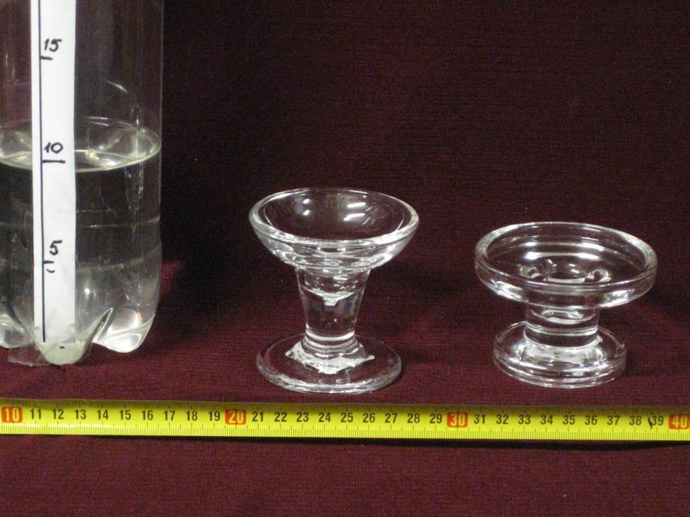 Žvakidės stiklinės