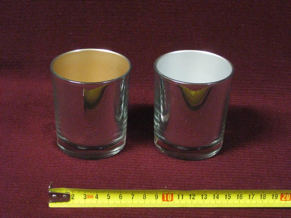 Stiklo gaminys žvakidė stiklinė