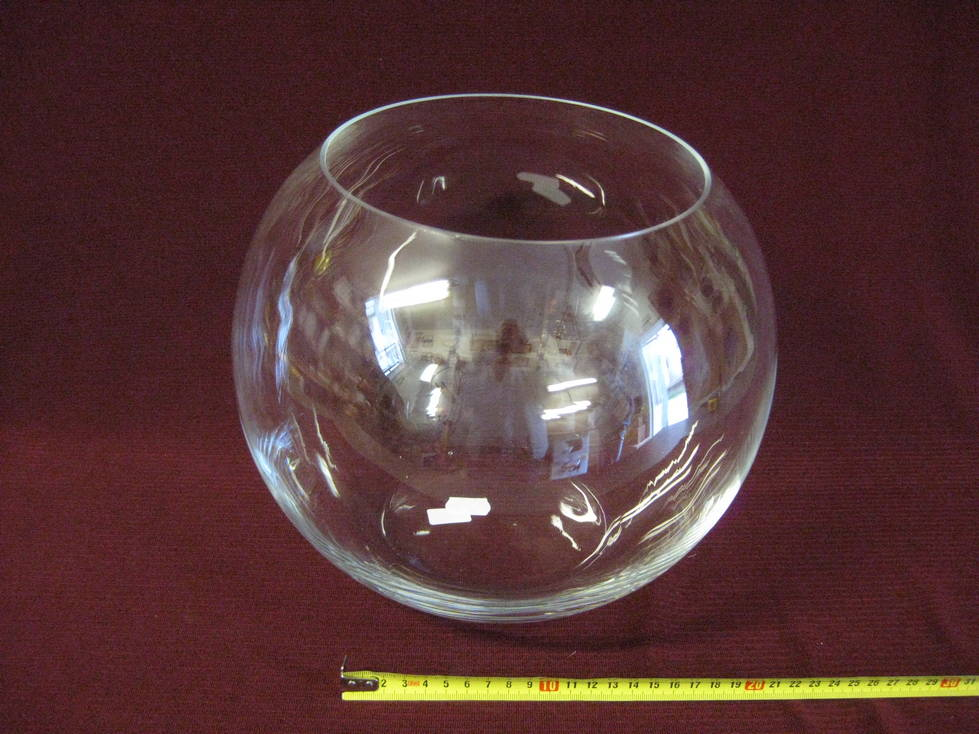 Vaza burbulas sfera stiklinė