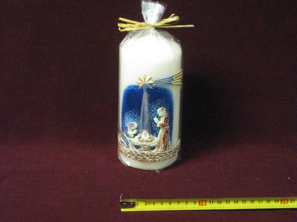 Žvakė cilindras kalėdoms