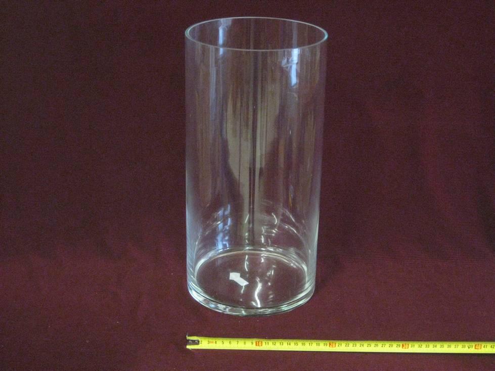 Vaza cilindras stiklinis