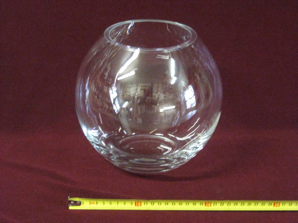 Vaza sfera stiklinė