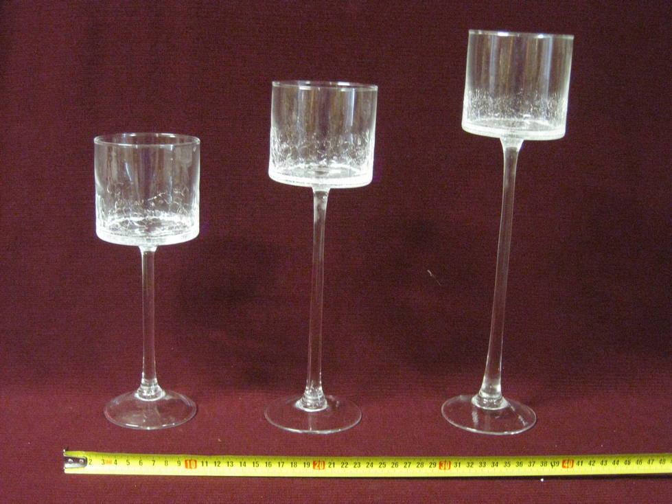 Žvakidė stiklinė 25x9, 30x9, 35x9