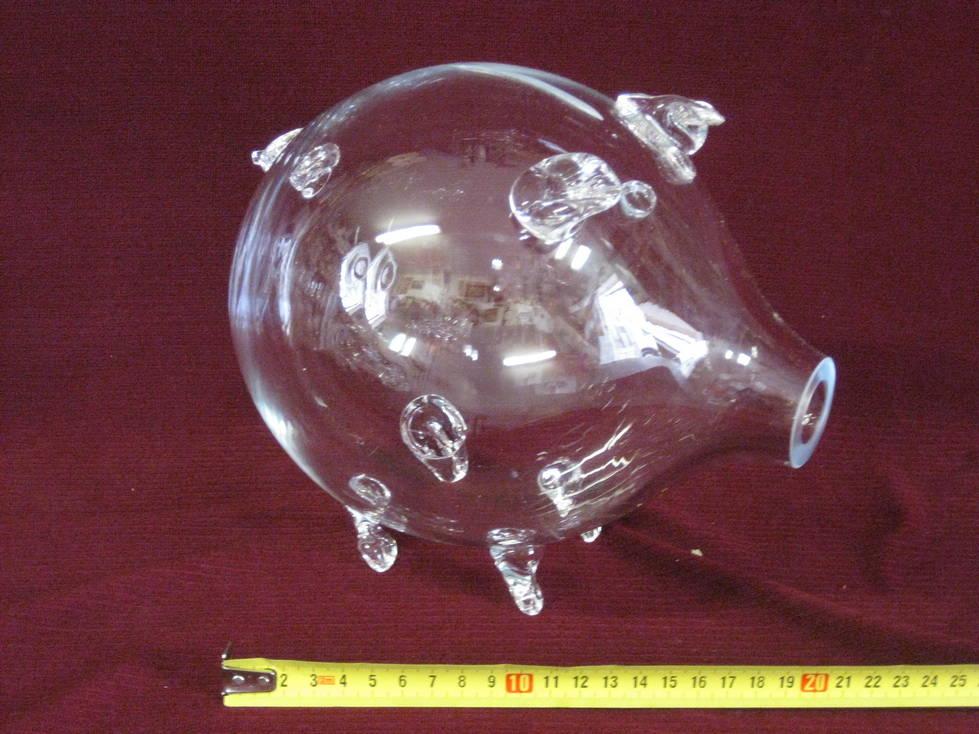 Kiaulė taupyklė stiklinė