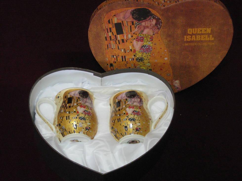 Puodelis keramikinis, šaukštukas 2+2