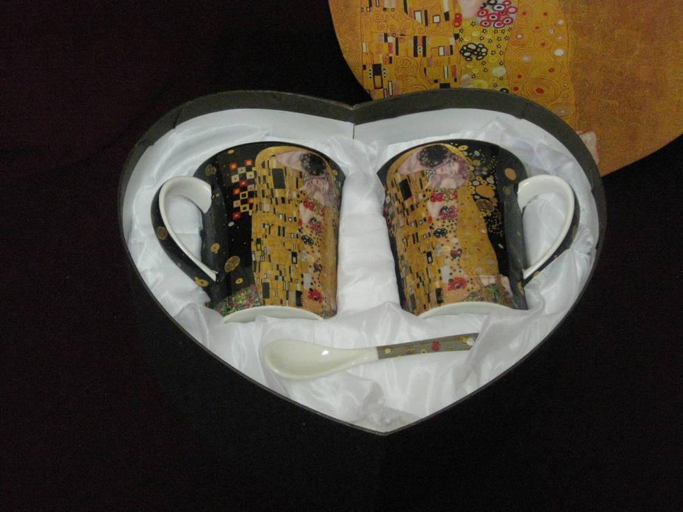 Puodelis keramikini, šaukštukas 2+2