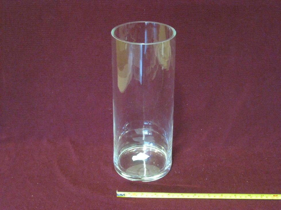 Vaza stiklinė cilindras
